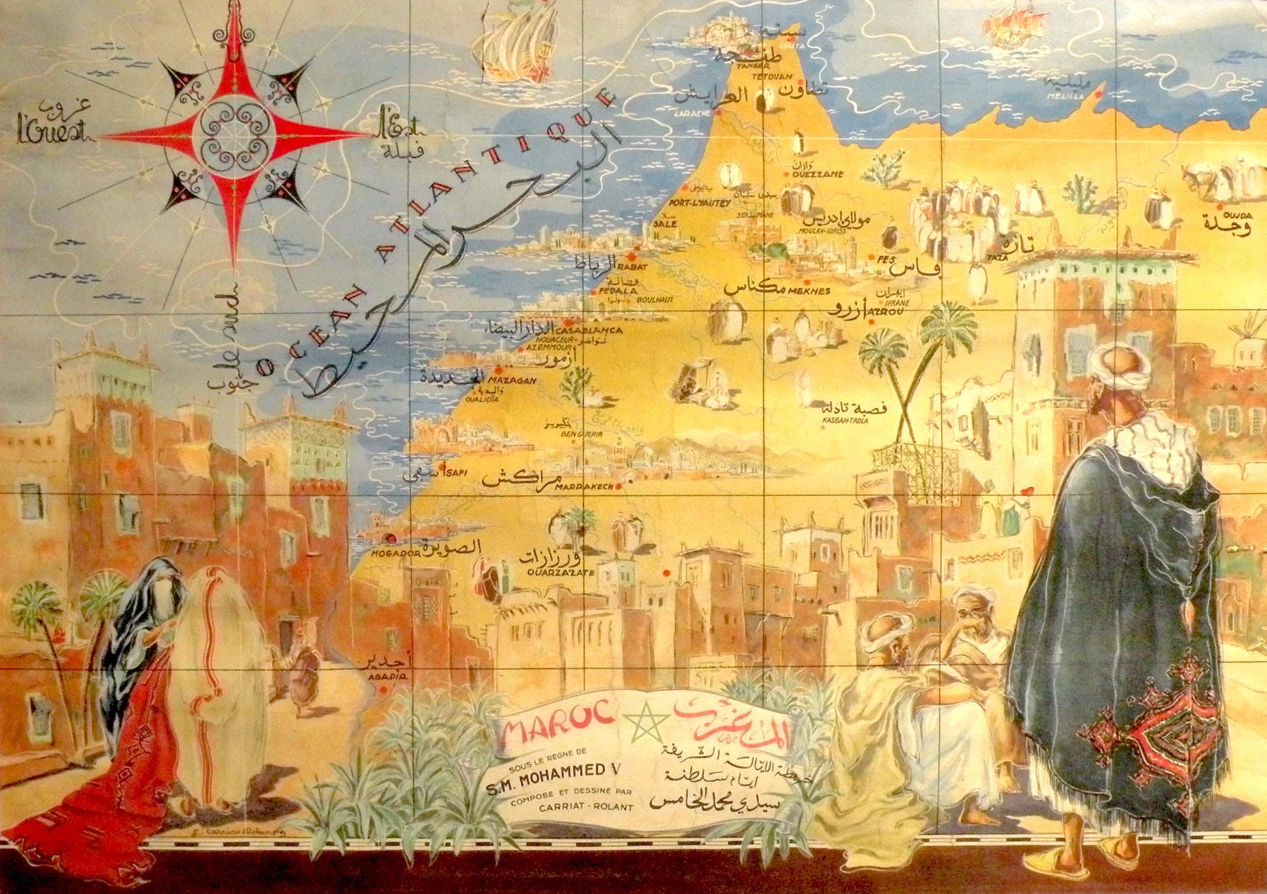Antica mappa del Marocco