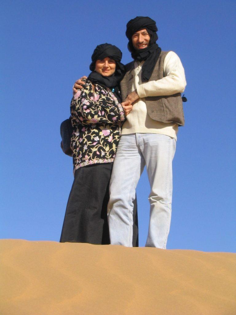 Emanuela Carla Marabini e Fabrizio Baron - Marocco 1° gennaio 2004. Adventour - Viaggi su Misura. Adventour - Viaggi su misura verso Marocco, India, Sudafrica, Botswana, Costa Rica.
