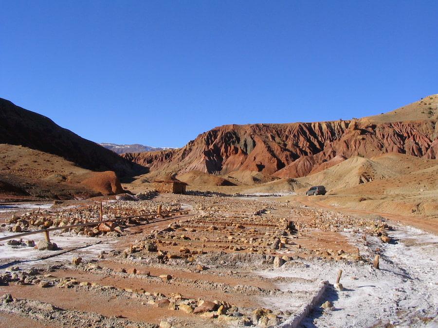Marocco - Alto Atlante - Saline di Telouet - Strada del Sale. Adventour - Viaggi su misura verso Marocco, India, Sudafrica, Botswana, Costa Rica.