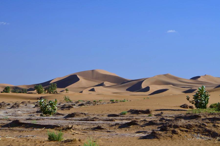 Paolo Marabini in viaggio in Marocco, Erg Chegaga. Adventour - Viaggi su misura verso Marocco, India, Sudafrica, Botswana, Costa Rica.