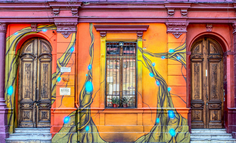 Adventour - Cile - Santiago - facciata - murales